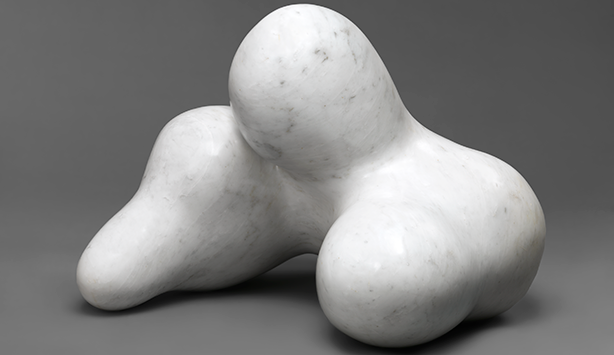 abstract white marble statue