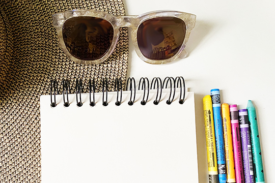 Art Supplies and Sunglasses
