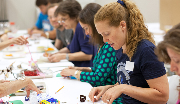 Nasher Now participant works on art-making project