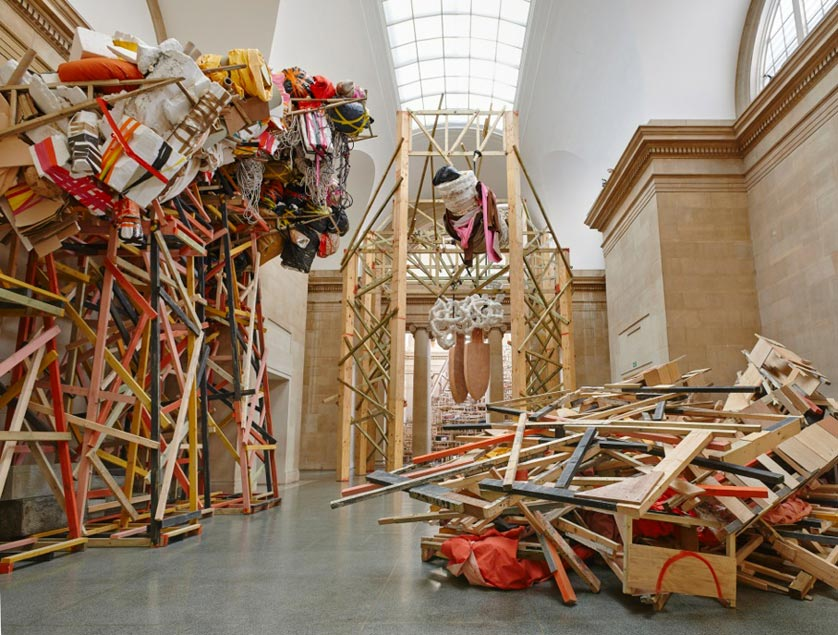 Dock (detail), 2014 by Phyllida Barlow, a Duveen Commission at the Tate Britain in London © Phyllida Barlow