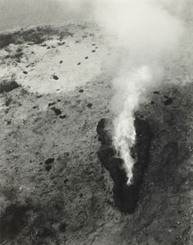 Ana Mendieta, American, born Cuba, 1948–1985, Untitled (Maroya), 1982, Lifetime black and white photograph, 10 x 8 in. (25.4 x 20.3 cm), Nasher Sculpture Center, Acquired through the Kaleta A. Doolin Acquisitions Fund for Women Artists, © The Estate of Ana Mendieta Collection, LLC, Photo: courtesy G