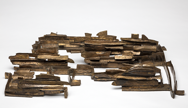 Dorothy Dehner Low Landscape No. 3, 1961 Bronze, 7 1/2 x 32 1/2 x 21 1/2 in. (19.1 x 82.6 x 54.6 cm)  Nasher Sculpture Center, Acquired through the Kaleta A. Doolin Acquisitions Fund for Women Artists
