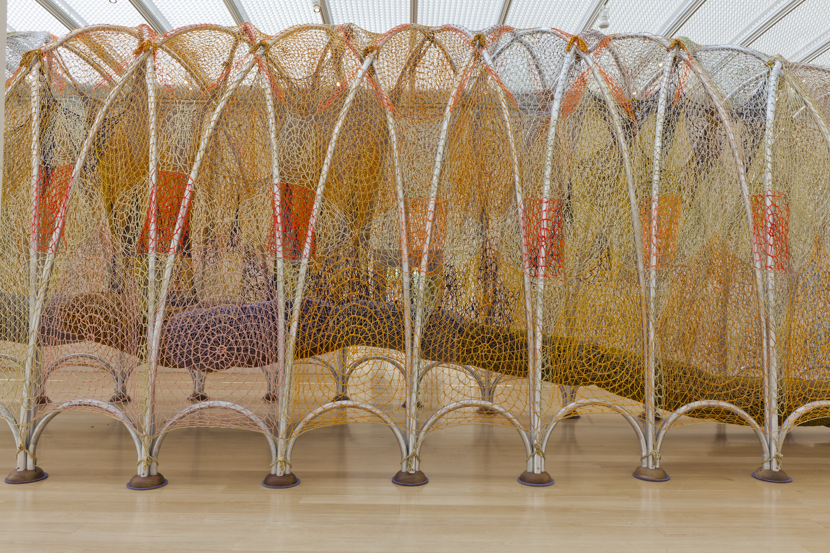 Ernesto Neto's Cuddle on the Tightrope