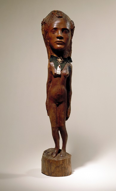 Paul Gauguin, Tahitian girl, Wood and mixed media, 1896.