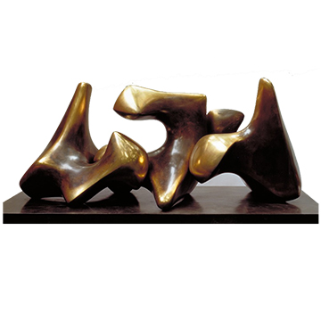 Working Model for Three Piece No. 3: Vertebrae by Henry Moore