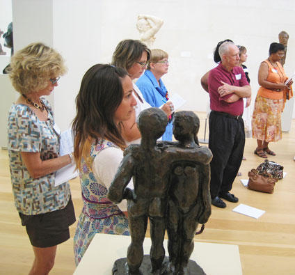 Guests enjoy Nasher gallery tour