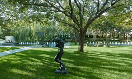 Nasher Sculpture Center garden with fountain