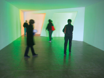 Nasher Avant Garde Members view works by Dan Flavin at the Chinati Foundation on a trip to Marfa, Texas in 2010