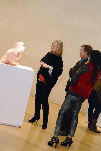 Patron Members view the exhibition Ken Price Sculpture: A Retrospective at an exclusive event in 2013