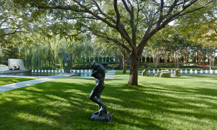 Auguste Rodin's Eve in the Nasher Sculpture Center Garden
